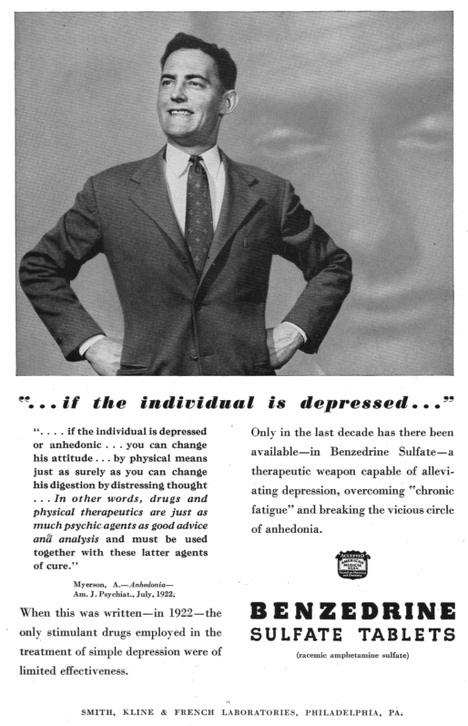 Benzedrine Werbung von 1945