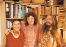 J. Ott (i.d.M.), mit C. Müller Ebeling (l.) und C. Rätsch (r.)