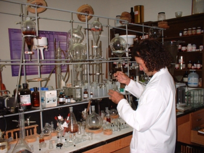 Daniel Siebert in his Lab