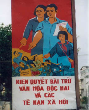 Strassenschild ins Nha Trang