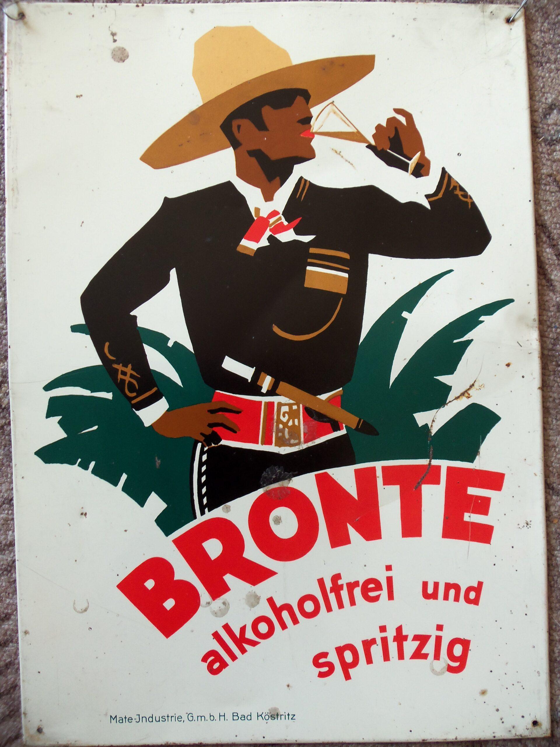 BRONTE-Werbeblech